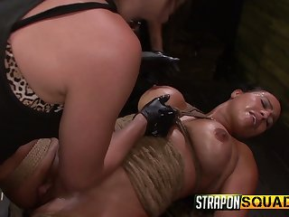 Two kinky mistresses fuck pussy of one be in charge plighted lesbian hooker