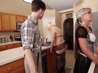 Mummy with an increment of Stepsis Three-Way after inure - Leilani Lei Fifi Foxx