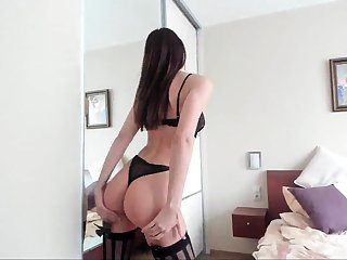 Amateur abuse in lingerie