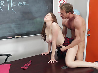 Drilled schoolgirl slut