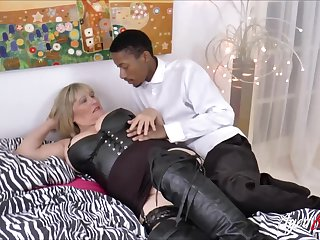 Busty blonde mature gets big raven bushwa deep inside her vagina