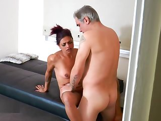 Spying friend joins up for a threesome