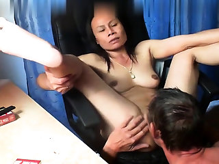 Thai asian milf full-grown drag inflate fuck anal