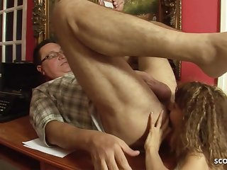 Bony 18yo Hooker in old and young sexual relations action with ass licking -1080p