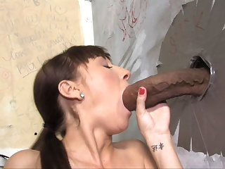 Lita Haize Attacked By A Subhuman Cock - Gloryhole