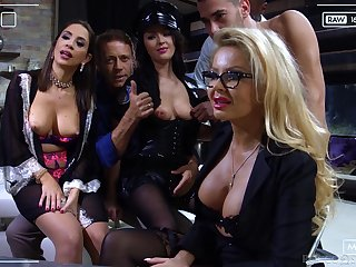 Sultry and torrid MILFs get their a torch for holes pounded in hot compilation
